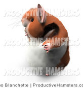 Illustration of a 3d Hamster in Profile Facing Left by Leo Blanchette