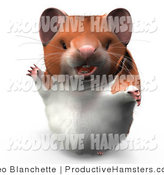 Illustration of a 3d Hamster Waving and Smiling by Leo Blanchette