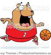 Illustration of a Chubby Hamster Basketball Player by Cory Thoman