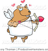 Illustration of a Chubby Hamster Cupid by Cory Thoman