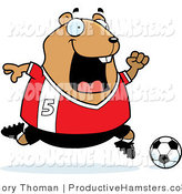 Illustration of a Chubby Hamster Soccer Player by Cory Thoman