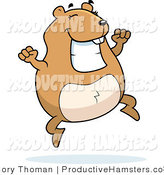 Illustration of a Chubby Happy Hamster Jumping by Cory Thoman