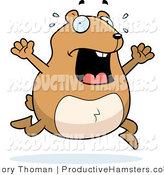 Illustration of a Chubby Stressed Hamster Running by Cory Thoman