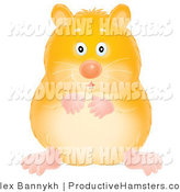 Illustration of a Chubby Yellow Hamster by Alex Bannykh