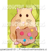 Illustration of a Hamster Eating a Cookie by Mayawizard101