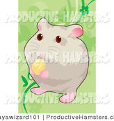 Illustration of a Hamster Eating Food by Mayawizard101