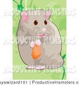Illustration of a Hamster Nibbling on Food by Mayawizard101