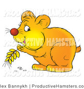 February 26th, 2012: Illustration of a Hamster Storing Grains in His Cheeks by Alex Bannykh
