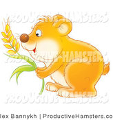 March 2nd, 2012: Illustration of a Hungry Hamster Storing Wheat Grains into His Cheeks by Alex Bannykh