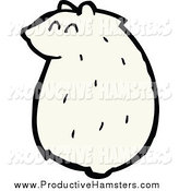 January 18th, 2014: Illustration of a Sitting Chubby White Hamster by Lineartestpilot