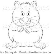 Illustration of an Outlined Happy Hamster by Alex Bannykh
