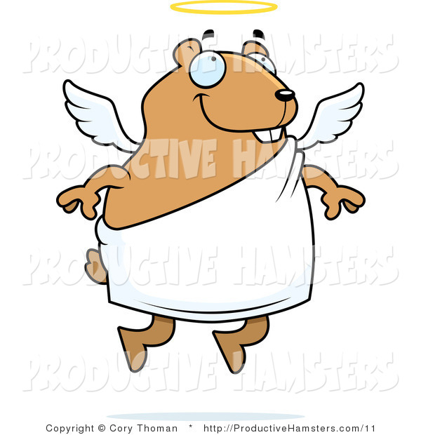 Illustration of a Chubby Angel Hamster