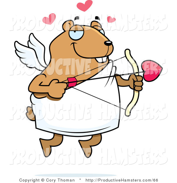 Illustration of a Chubby Hamster Cupid