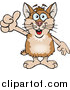 Illustration of a Happy Tan and Brown Hamster Giving a Thumb up by Dennis Holmes Designs